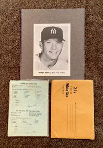 MICKEY MANTLE 1958 -61 JAY PUBLISHING SET OF 9 BERRA + Bonus White Sox Set Of 11