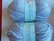 King Cole Priceswise double knitting yarn, Clerical (gray), lot of 2 (320 yd ea)