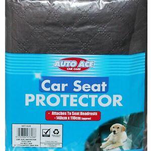 Black Rear Car Seat Liner Protector Hammock Pet Dog Cover Mat