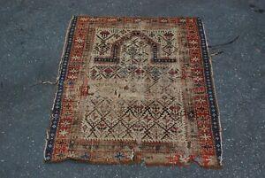 antique caucasian Marasali prayer rug 46x44 inches