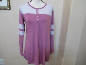 NWT HONEYDEW All American Henley Sleep Shirt Nightgown Small