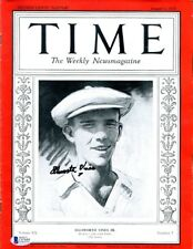 Ellsworth Vines Signed Time Magazine 1932 Autographed Tennis Great Beckett BAS