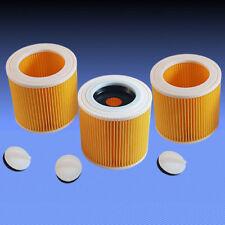 3 Patronenfilter Rundfilter Lamellenfilter Filter für Staubsauger Dewalt D27900