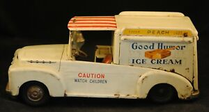 Vintage Japan Ahi FORD Good Humor Ice Cream Truck Tin Friction VG