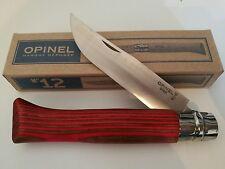 Opinel N°12 Bouleau lamellé rouge