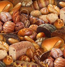 Elizabeth's Studio Food Festival Bread 395 100% cotton fabric by the yard