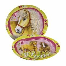 Amscan - Lot 8 Assiettes Carton Cheval 23cm diam