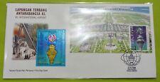 1998 Malaysia KLIA Airport Royal Selangor Pewter Niobium MS Stamp Private FDC