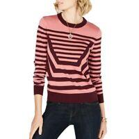 MICHAEL KORS NEW Women's Striped Crewneck Sweater Top TEDO