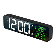 Digital Led Alarm Clock Usb Backlight Cuboid Desktop Mirror Table Clocks