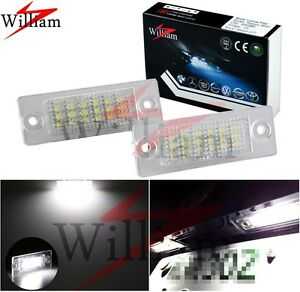 2x LED License Plate Light High Power Xenon White For Volkswagen Jetta 2005-2010