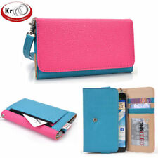 Kroo Two Tone Clutch Wristlet Wallet with Pouch for Smartphone up to 5.7 Inch
