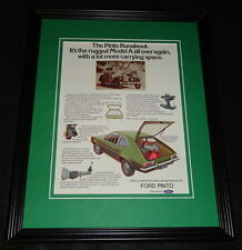 1973 Ford Pinto Framed 11x14 ORIGINAL Vintage Advertisement
