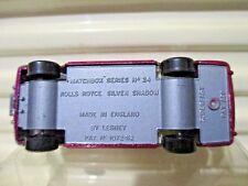 LESNEY MATCHBOX MB24A Red ROLLS ROYCE SILVER SHADOW Silver Grey Base C9 MintBoxd