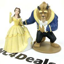Vintage Walt Disney Beauty and The Beast Belle Porcelain Figurine Set of 2