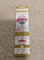 August 15, 1990 Full Season Ticket Terry Mulholland MLB No-Hitter Phillies