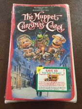 Factory Sealed VHS: DISNEY THE MUPPET CHRISTMAS CAROL-1993 Jim Henson