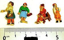 4 Mujeres Preiser (?) FIGURAS DE MADERA AÑOS 50 AÑOS H0 1:87 å