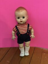 """YES NO Block 12"""" Hard Plastic Boy Doll 1950's Original Outfit Pat Pend"""