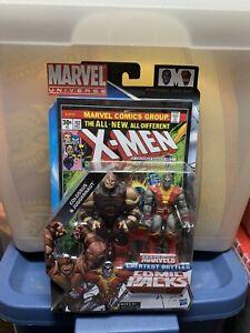 Marvel Universe, COLOSSUS, JUGGERNAUT, Greatest Battles Comic Pack, 2 Pack, MOSC