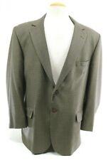 Orvis Men's Blazer Sport Coat Size 46R Houndstooth Tan