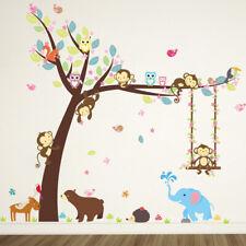 "Kids/Nursery Room Decor Removable Wall Sticker Home Decor  ""Swing Monkey"""