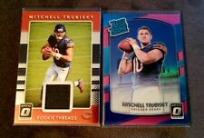 Mitchell Trubisky 2017 Panini Optic SP Pink Prizm RC #178 + Jersey RC LOT Bears
