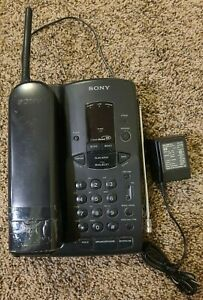 Vintage 90s Sony SPP-AQ600 25 Ch. Cordless Telephone w/ Digital Answering System