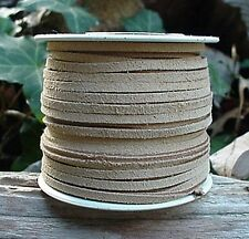 Lace Lacing Leather Suede Beige 25 Yd Spool Made In Usa