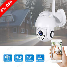 Wireless 1080P HD PTZ 5X Zoom IP Camera Wifi Waterproof Security TF Slot Outdoor
