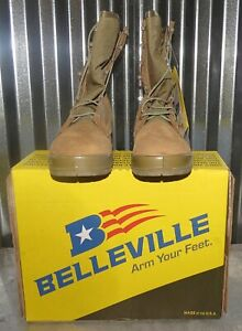 New Mens Belleville 550 ST USMC Hot Weather Steel Toe Combat Boots Size 8 R