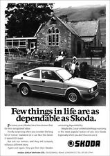 SKODA 130 COUPE RETRO A3 POSTER PRINT FROM CLASSIC 80'S ADVERT