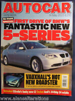 AUTOCAR Magazine 14th May 2003 BMW 5-Series