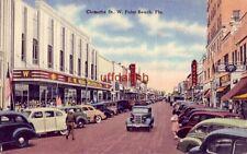 CLEMATIS ST., W. PALM BEACH, FL. F.W. Woolworth's circa 1940