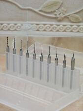 10 Wolfram PCB Wolframstahl Spiralbohrer-Bohrer Fräser für Dremel 0.2mm - 1.1mm