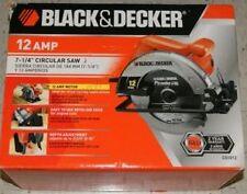 "Black Decker 12 Amp 7-1/4"" Circular Saw CS1012 NEW"