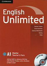 Cambridge ENGLISH UNLIMITED STARTER Teacher's Pack / Book with DVD-ROM @NEW@