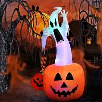 Inflatable Pumpkin Airblown Blow Up Light Up Halloween Holiday Outdoor Yard Deco