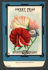 SWEET PEAS, Spencer Mixed, Burt's Antique Seed Packet, Kitchen Decor, 020