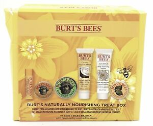 BURT'S BEES Naturally Nourishing Treat Box 6 Piece Gift Set NEW Damaged Box#3206