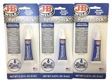 3pk J B Weld 24206 Perma Lock Medium Strength Thread Locker 20oz 6ml2j