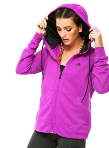 Adidas Prime Hoody Women's Performance Track Top Purple Full Zip Jacket Training