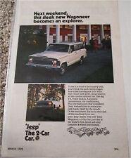 1970 AMC Jeep Wagoneer ad