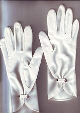 paire de gants femme - blancs - pour fetes ceremonies - / hansen 6,1/2