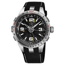 Perrelet Men's Turbine Pilot Black Dial Rubber Strap Automatic Watch A1085/1