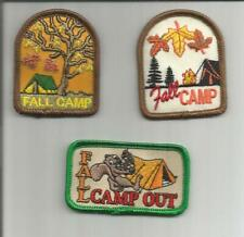 Girl/Boy Scout/Guides Patch/Crest/Badge FALL CAMP CAMPOUT  (your choice)