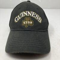 Guinness Beer Black Cap Hat Embroidered Shamrock 1759 Stout Lager Adjustable