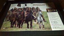 Braveheart Rare Original Academy Awards Consideration Promo Poster Ad Framed!