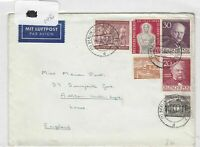 German Postal History Stamps Cover 1954  Ref 8800