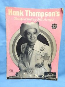 Hank Thompson Songbook - SIGNED - 1956 - Brazos Valley Hits No.2